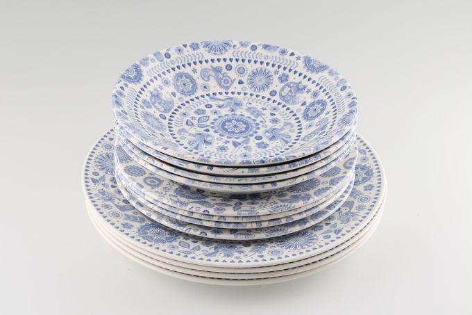 Churchill Penzance 12 Piece Set 4 dinner plates, 4 side plates & 4 bowls