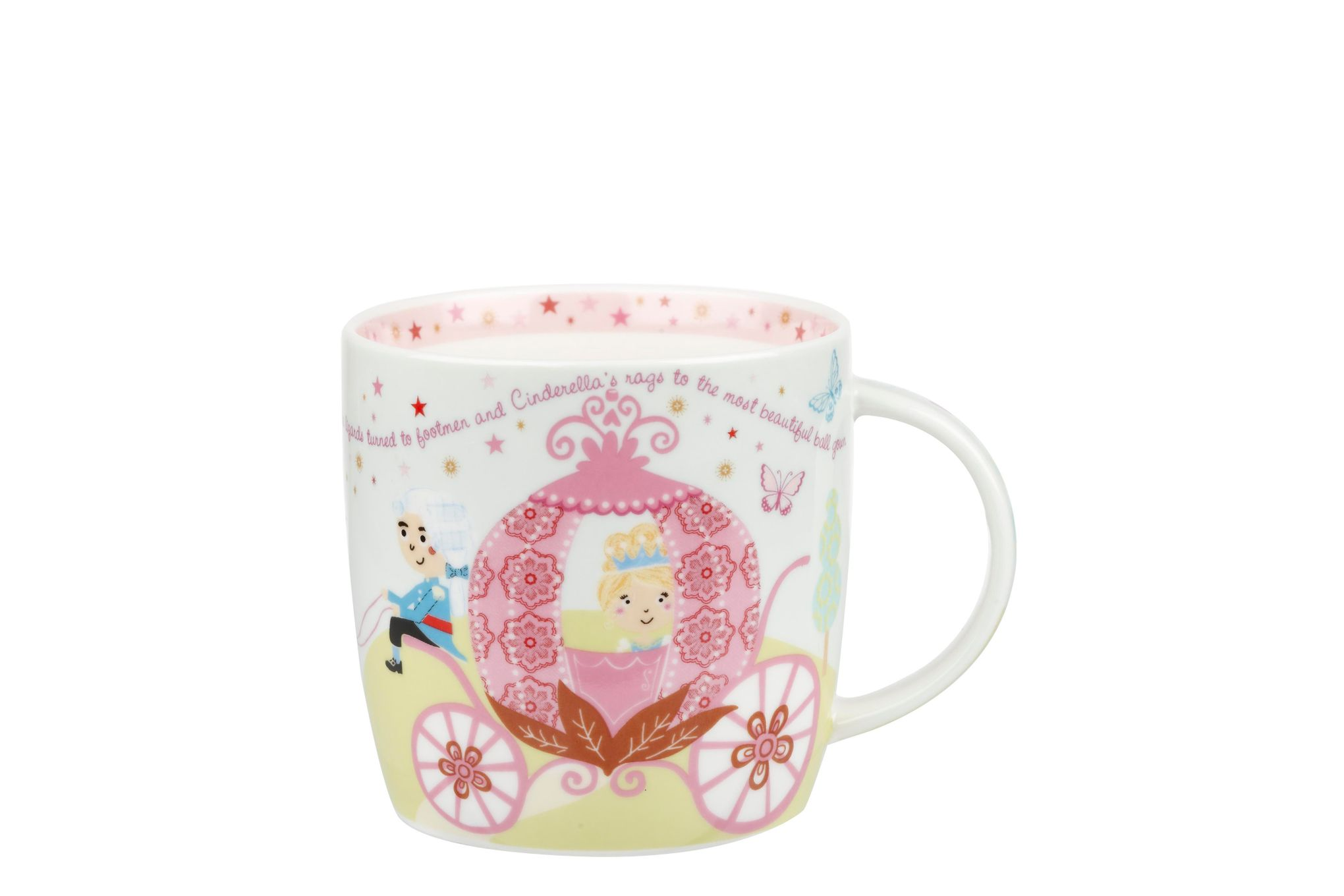Churchill Little Rhymes Collection - Cinderella 4 Piece Breakfast Gift Box Set Set contains plate, bowl, egg cup and mug thumb 2