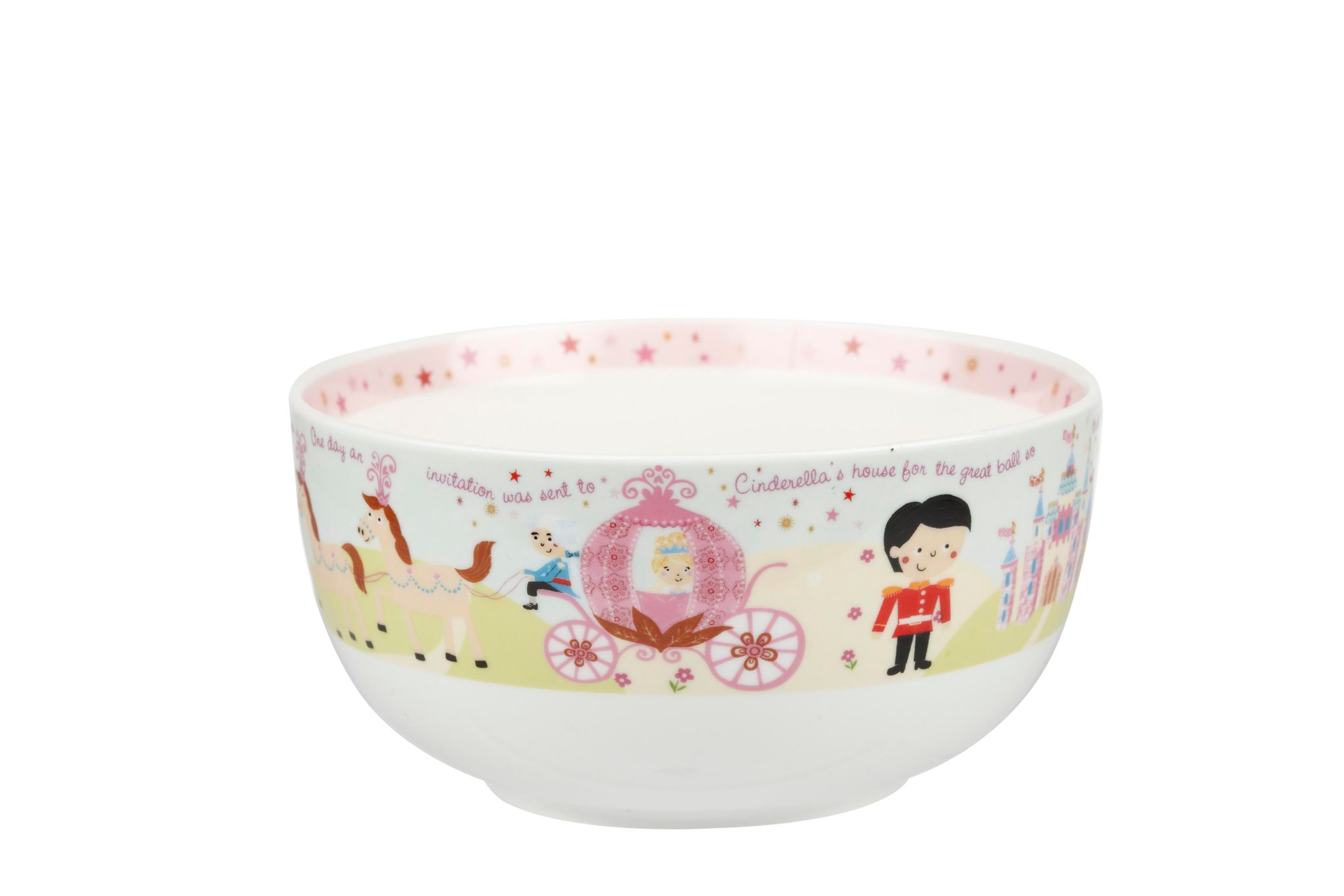 Churchill Little Rhymes Collection - Cinderella 4 Piece Breakfast Gift Box Set Set contains plate, bowl, egg cup and mug thumb 4