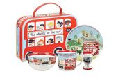 Churchill Little Rhymes Collection - Wheels On The Bus 4 Piece Breakfast Gift Box Set Set contains: plate (17.2cm), bowl (13cm), mug (284ml) and egg cup (6.5cm) thumb 1