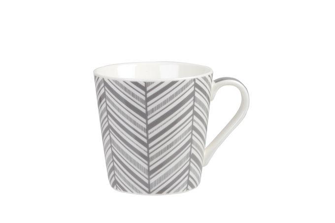 Churchill Couture Geometric Mug Bumble Chevron - Grey (single) 325ml