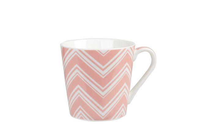 Churchill Couture Geometric Mug Bumble Chevron - Pink (single) 325ml