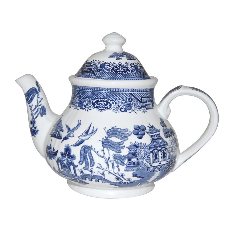 No Obligation Search For Churchill Blue Willow Teapot