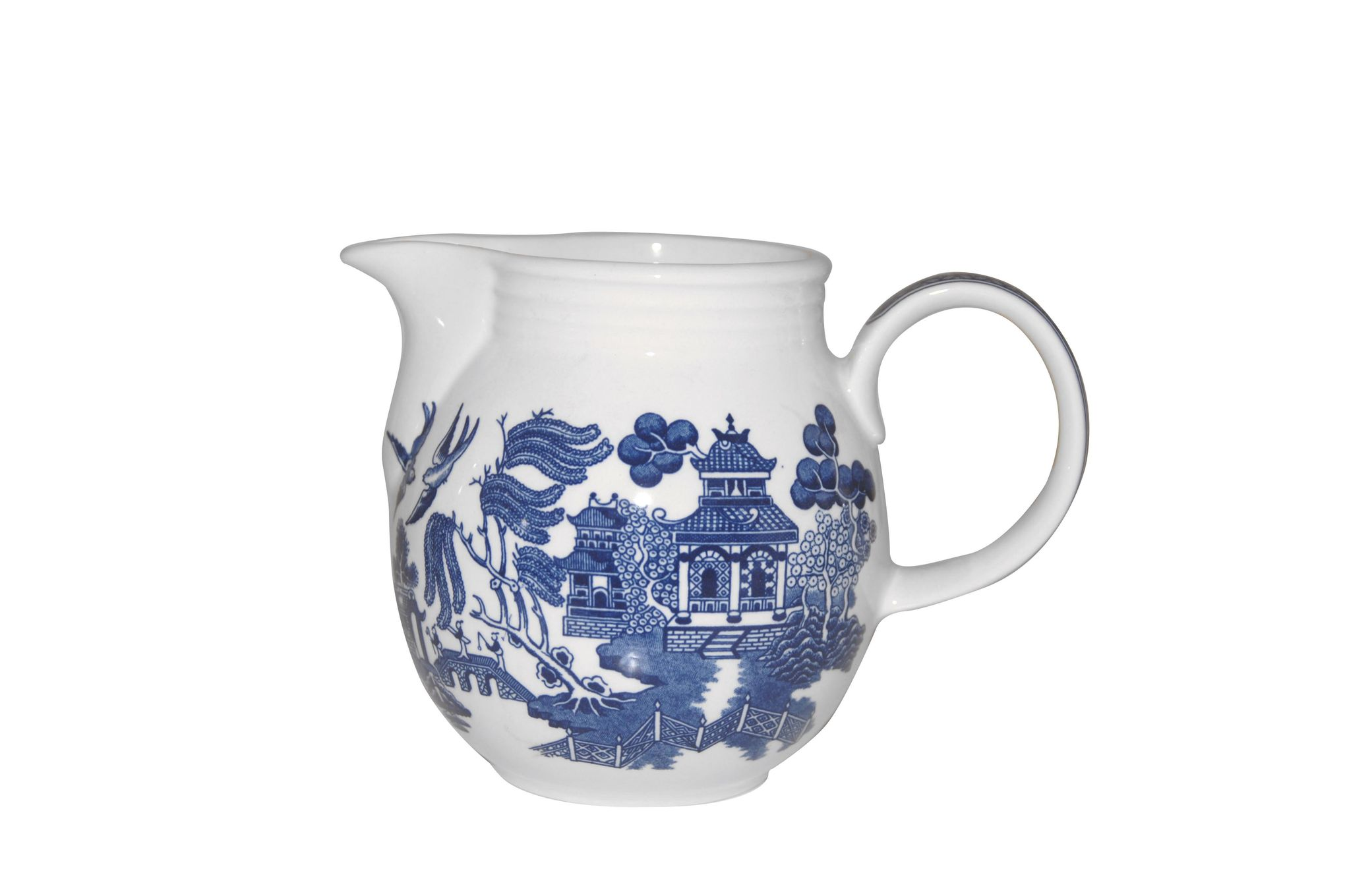 Churchill Blue Willow Jug 1 1/2pt thumb 1