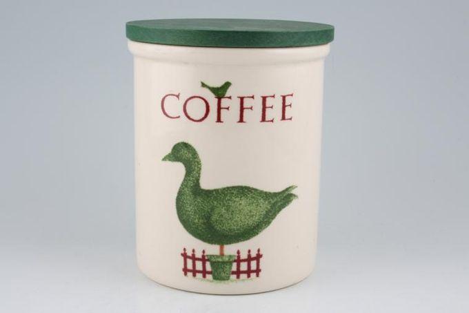 "Cloverleaf Topiary Storage Jar + Lid Coffee 5 x 5 3/4"""