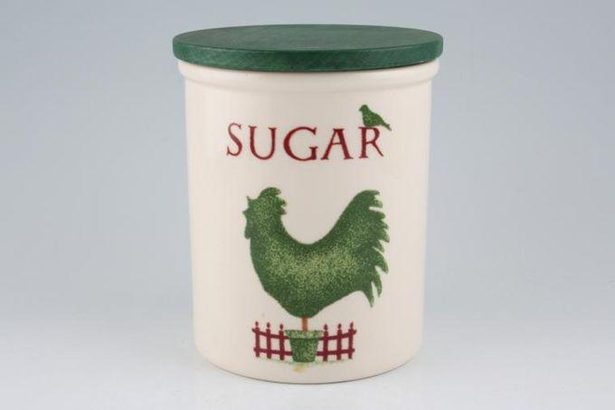 "Cloverleaf Topiary Storage Jar + Lid Sugar 5 x 5 3/4"""