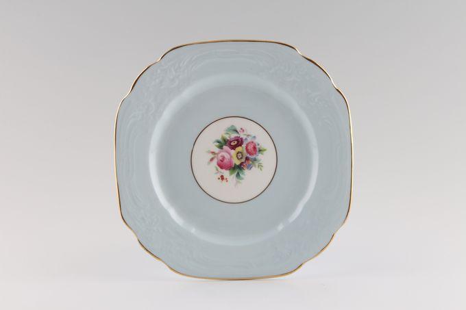 "Coalport Sevres Embossed Tea / Side / Bread & Butter Plate square 6 3/4"""