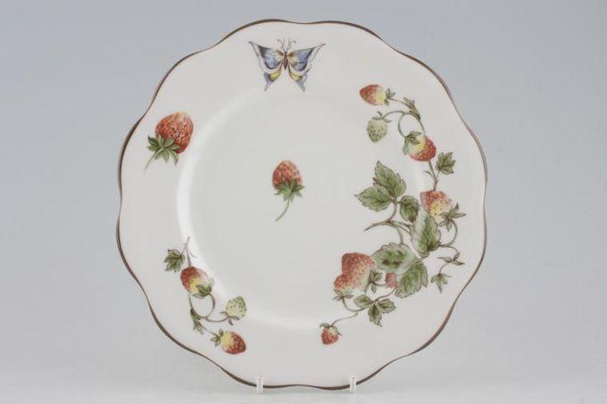 "Coalport Strawberry Breakfast / Salad / Luncheon Plate wavy rim 8 3/4"""