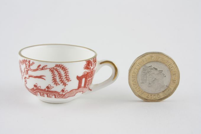 Coalport Miniatures - Willow - Coral Teacup