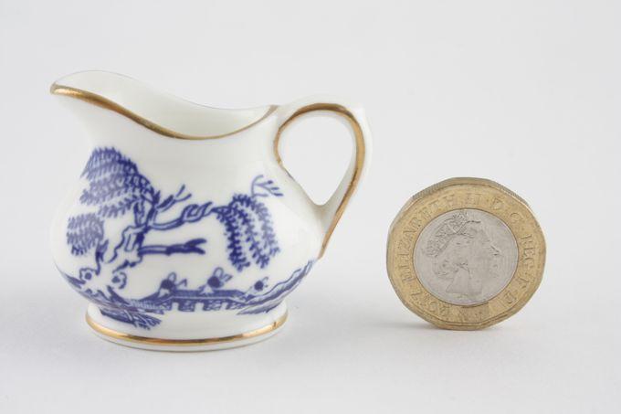 Coalport Miniatures - Willow - Blue Cream Jug Squat
