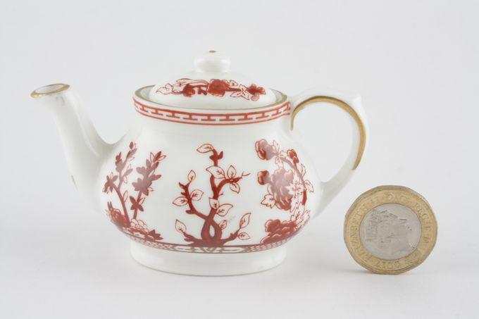 """Coalport Miniatures - Indian Tree - Coral Teapot High 2 1/4"""""""