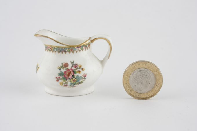 Coalport Miniatures - Ming Rose Milk Jug Squat