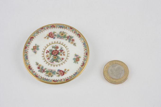 Coalport Miniatures - Ming Rose Tea Saucer