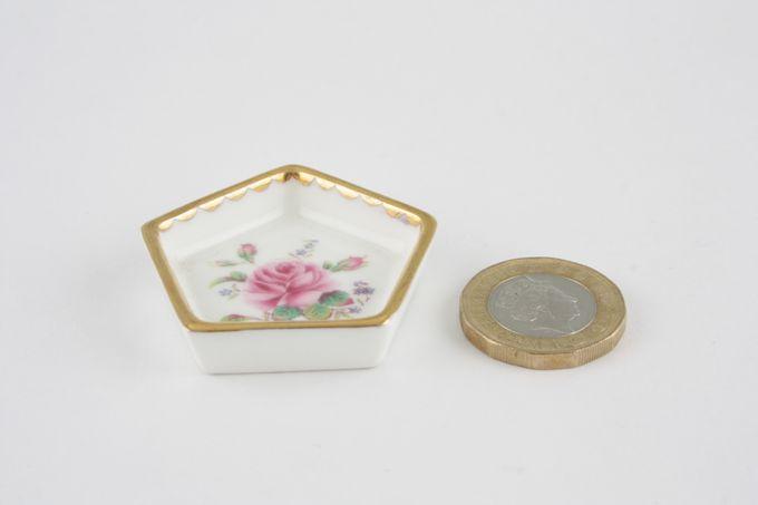 Coalport Miniatures - Birbeck Rose Serving Tray Pentagon