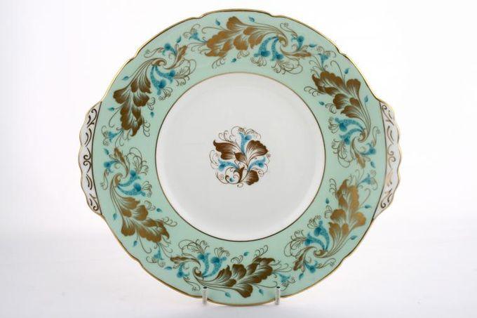 "Coalport Strange Orchid - Green Cake Plate Round 10"""