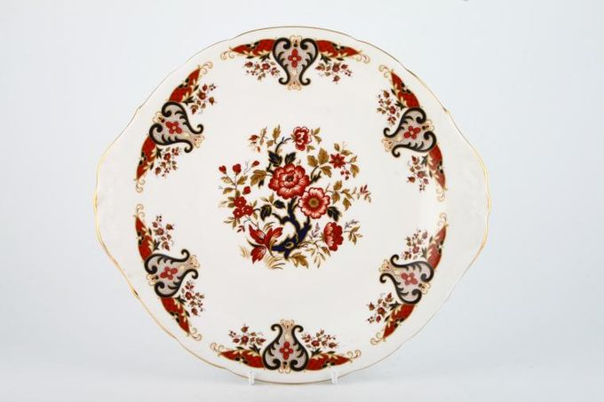 """Colclough Royale - 8525 Cake Plate round - eared 10 1/4"""""""