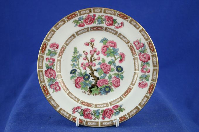 """Crown Staffordshire Indian Tree Dinner Plate 10 1/4"""""""