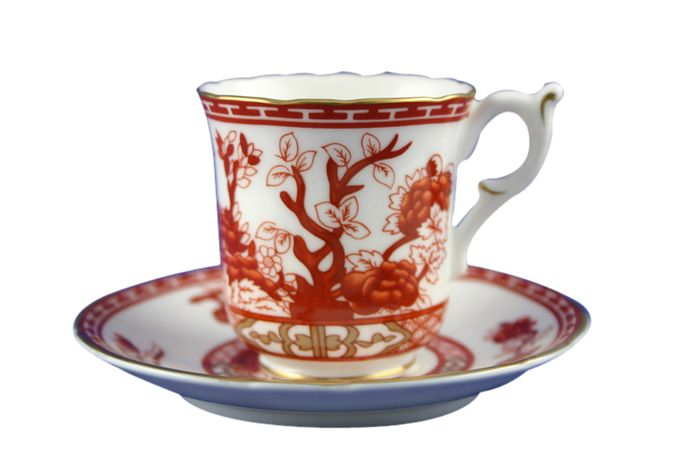 Crown Staffordshire Indian Tree - Coral
