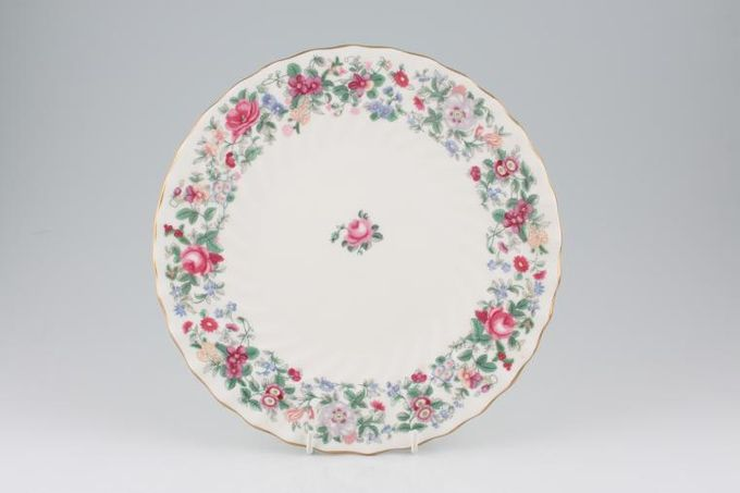 """Crown Staffordshire Thousand Flowers Dinner Plate Fluted 10 5/8"""""""