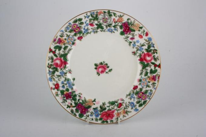 "Crown Staffordshire Thousand Flowers Dessert / Salad Plate 8 1/4"""