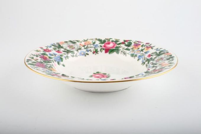 """Crown Staffordshire Thousand Flowers Soup / Cereal Bowl Rimmed 7 5/8"""""""