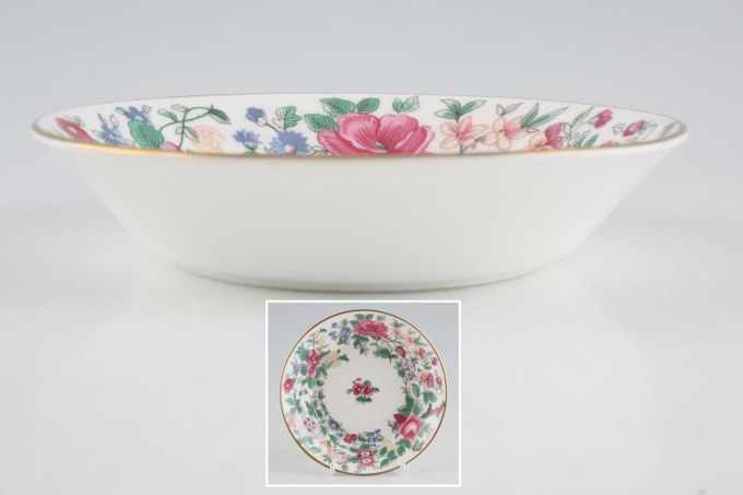 """Crown Staffordshire Thousand Flowers Fruit Saucer Flower In the Middle 5"""""""