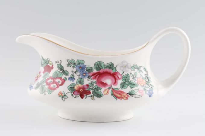 Crown Staffordshire Thousand Flowers Sauce Boat No gold around base