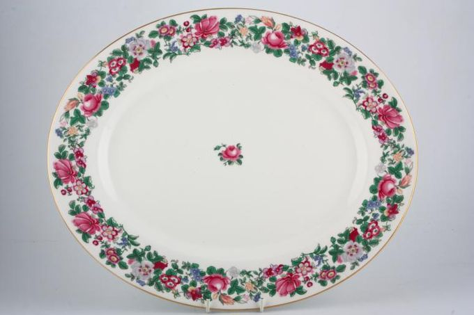 Crown Staffordshire Thousand Flowers Oval Plate / Platter 15 3/4""