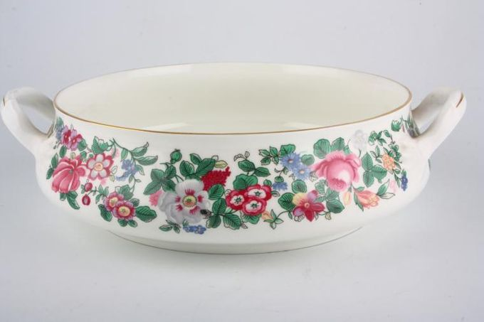 Crown Staffordshire Thousand Flowers Vegetable Tureen Base Only 2 handles 8 3/8""