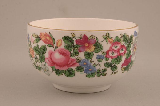 "Crown Staffordshire Thousand Flowers Sugar Bowl - Open (Tea) no flower on inner 4 1/4 x 2 1/2"""