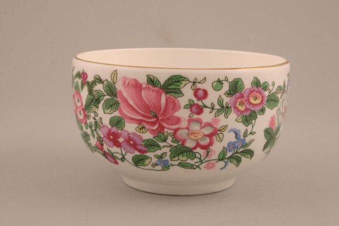 "Crown Staffordshire Thousand Flowers Sugar Bowl - Open (Tea) flower on inner 4 3/8 x 2 5/8"""