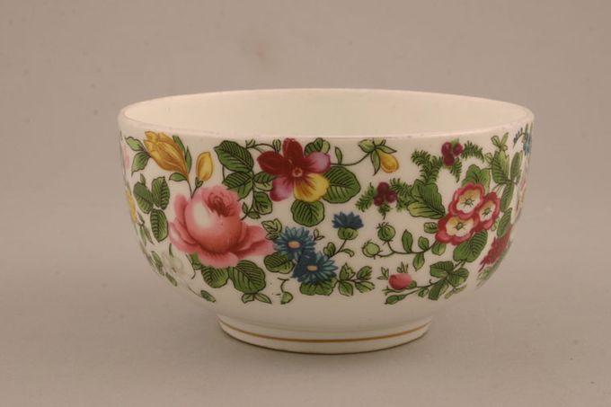 "Crown Staffordshire Thousand Flowers Sugar Bowl - Open (Tea) flower on inside 4 1/4 x 2 1/4"""