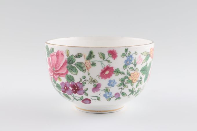 Crown Staffordshire Thousand Flowers Sugar Bowl - Open (Coffee) Flower on inside 3 1/2 x 2 1/4""