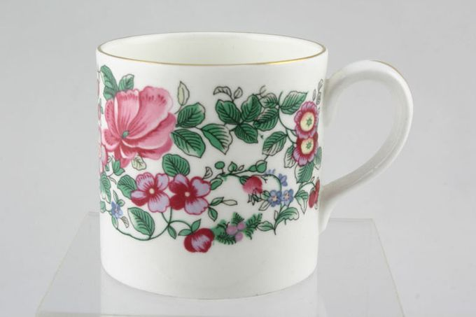 """Crown Staffordshire Thousand Flowers Coffee/Espresso Can 2 5/8 x 2 5/8"""""""
