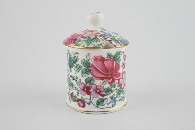 Crown Staffordshire Thousand Flowers Mustard Pot + Lid Straight Sided 2 1/8 x 2 1/8""