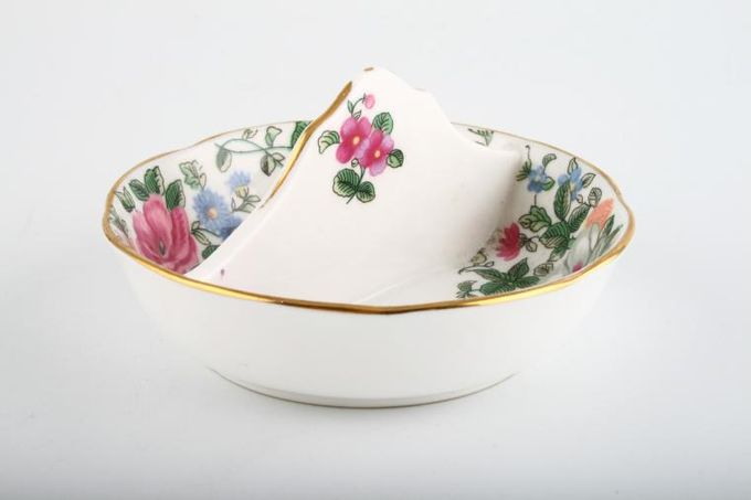 """Crown Staffordshire Thousand Flowers Tray (Giftware) Handled - Divided 4 1/4"""""""