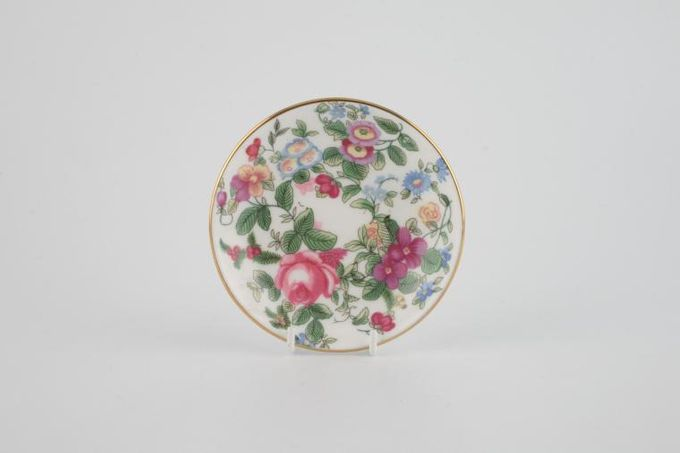 """Crown Staffordshire Thousand Flowers Butter Pat 3 1/2"""""""