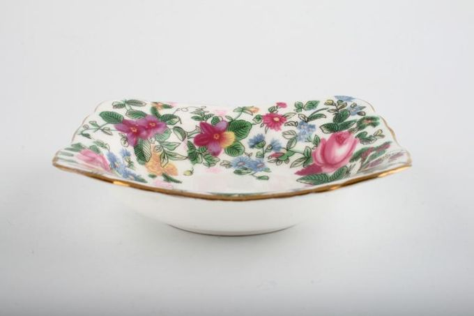 """Crown Staffordshire Thousand Flowers Tray (Giftware) Square 4 1/2 x 4 1/2"""""""