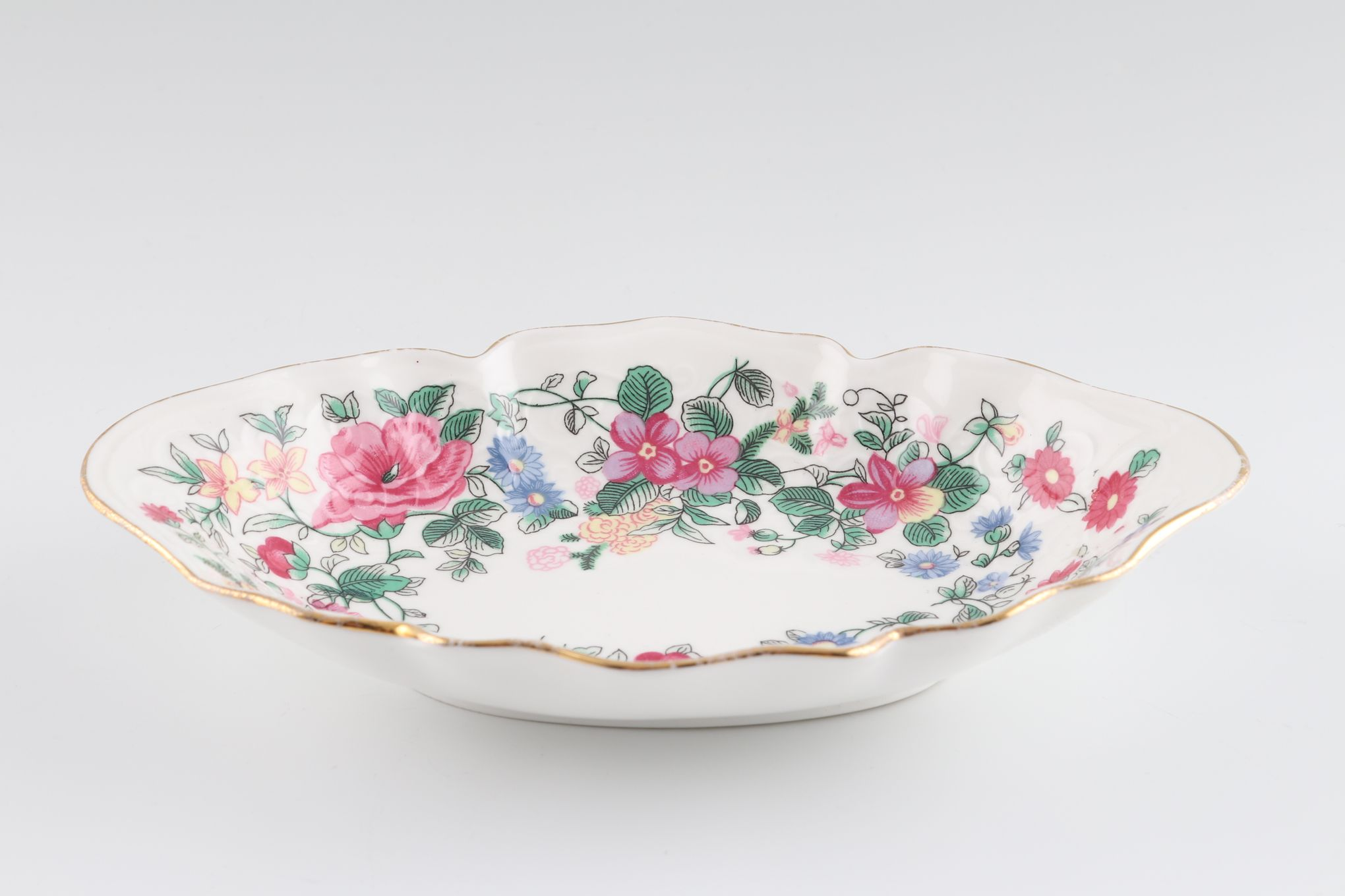 """Crown Staffordshire Thousand Flowers Serving Dish Oval - Fluted 6 3/4 x 4 1/2"""" thumb 1"""