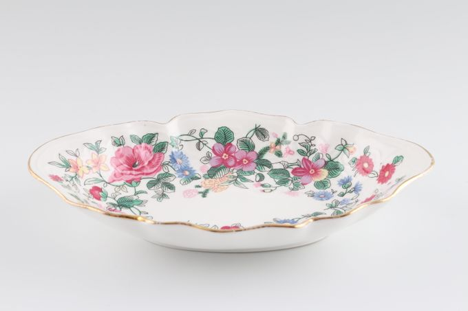 """Crown Staffordshire Thousand Flowers Serving Dish Oval - Fluted 6 3/4 x 4 1/2"""""""