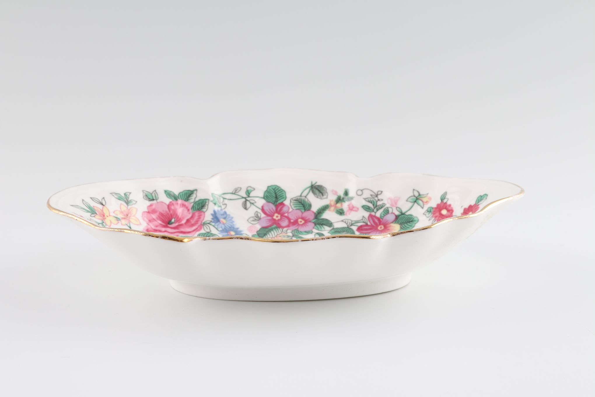 """Crown Staffordshire Thousand Flowers Serving Dish Oval - Fluted 6 3/4 x 4 1/2"""" thumb 2"""