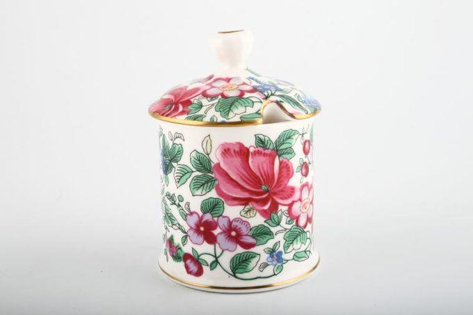 "Crown Staffordshire Thousand Flowers Ginger Jar Lidded 2 3/8 x 4 1/2"""