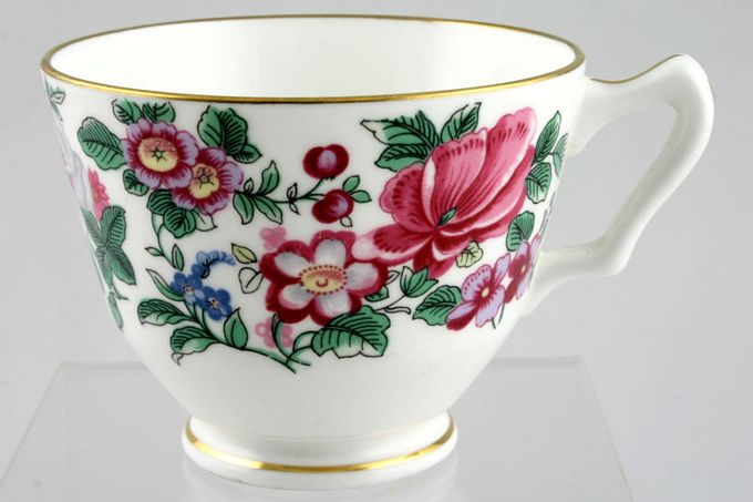 """Crown Staffordshire Thousand Flowers Teacup No Flower inside - A 3 1/2 x 2 5/8"""""""