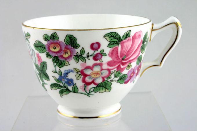 "Crown Staffordshire Thousand Flowers Teacup Flower Inside - C 3 3/8 x 2 1/2"""