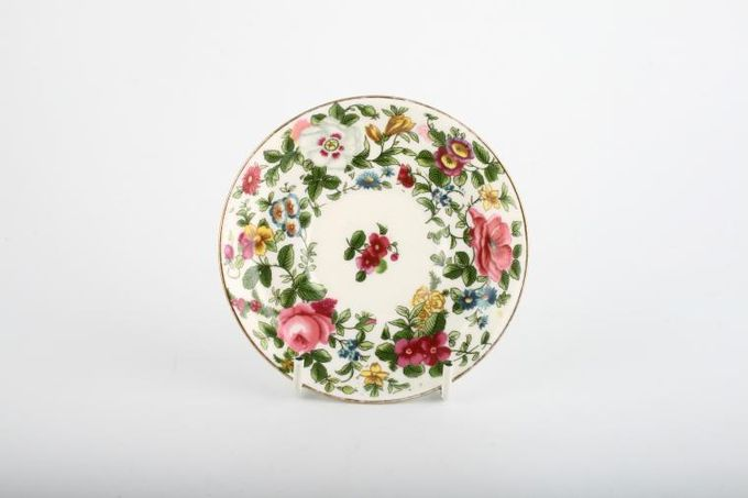 """Crown Staffordshire Thousand Flowers Coffee Saucer 2"""" Well 4 3/4"""""""
