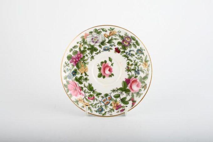"Crown Staffordshire Thousand Flowers Tea Saucer 5 1/4"""