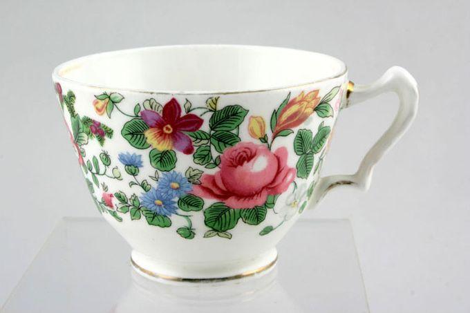 "Crown Staffordshire Thousand Flowers Teacup Flower Inside - E 3 1/8 x 2 3/8"""