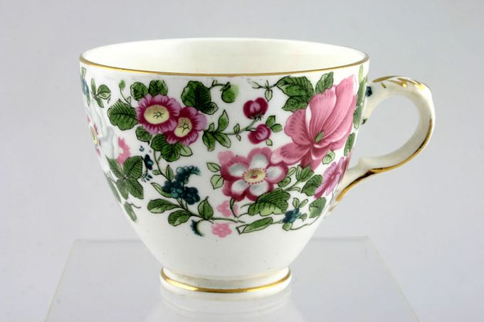 """Crown Staffordshire Thousand Flowers Teacup Flower Inside - F 3 1/4 x 2 5/8"""""""