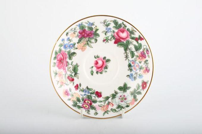 "Crown Staffordshire Thousand Flowers Tea Saucer 5 3/4"""