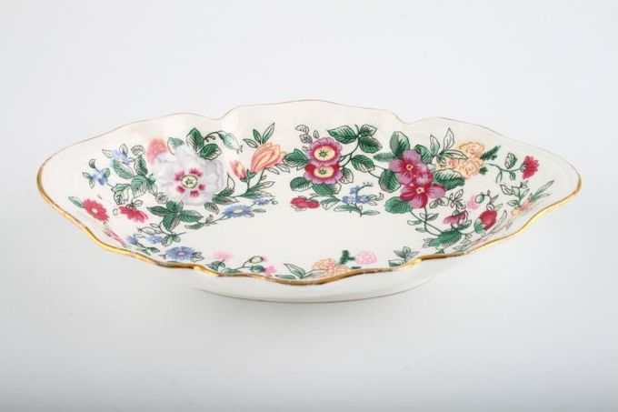 """Crown Staffordshire Thousand Flowers Tray (Giftware) Fluted 6 1/2"""""""